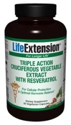 Triple Action Cruciferous Vegetable Extract with Resveratrol (60 vcaps).