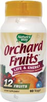 Orchard Fruits from Nature's Way and brought to you by Seacoast Vitamins may help you to obtain the recommended daily serving of fruits, is packed with antioxidants, and is great on the go..