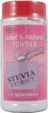 Sweet 'n Natural Stevia Powder is manufactured to exacting specifications by Superior Source Products.  Add to your favorite beverage or sprinkle on food to enhance the flavor. Is also excellent for baking. Zero Calories, Natural sweetener, subtitite for sugar..