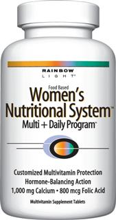 Womens Nutritional System The hormone-balancing multivitamin for women* with 1,200 mg calcium,  1,000 IU vitamin D and vitex for advanced bone and breast health protection.