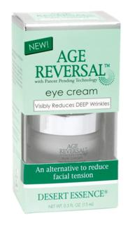 Age Reversal Eye Cream is a non-greasy anti-wrinkle treatment helping to moisturize and hydrate the eye and fine line areas, while visibly reducing facial tension and the appearance of wrinkles and fine lines..