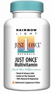 Just Once Multivitamin/Mineral   Nutrients plus energizing foods & herbs for completely vegetarian nutrition.