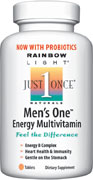 Men's One Energy Multivitamin/Mineral The #1 selling men's multivitamin  - now with probiotics, 800 mcg folic acid & 800 IU vitamin D.