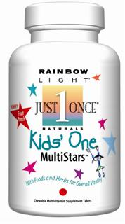 Kids One MultiStars Delicious chewable multivitamin for kids with  whole foods & vegetables.