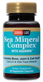 Start Sea Mineral Complex with Aquamin today to promote bone and joint health. Inspired by the body's natural mineral needs  beneficial health solutions for life!.