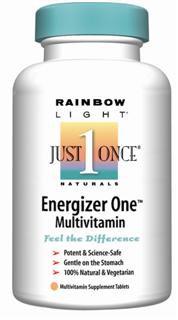 Energizer One Multivitamin/Mineral Delivers a balanced nutrient profile, targeted towards vegetarians, plus stimulant-free energy support .