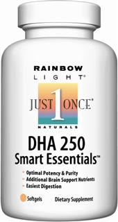 DHA 250 Smart Essentials - Powerful one-per-day support for optimal cognitive development and age-related brain health concerns*.