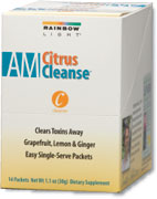 AM Citrus Cleanse   Cleanse the liver and clear away toxins with grapefruit, lemon and ginger.