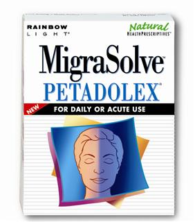 MigraSolve Petadolex - Clinically proven nutritional support for people with migraines - safe & effective for daily or acute use.
