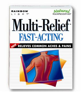 Multi-Relief Fast-Acting - Safe and effective relief for common aches and pains - no side effects.