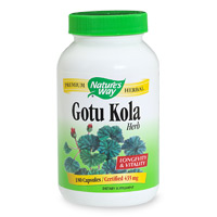 Gotu Kola has been traditionally used in India to promote longevity and enhance vitality. Gotu Kola is thought to boost intelligence and memory. This versatile herb is found growing naturally in the tropical boggy areas of India, and has many uses..