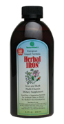 Herbal Iron is a liquid iron and multi-vitamin supplement that is formulated using iron-II-lactate, rather than the commonly used gluconate. The difference is that iron-II-lactate is a highly absorbable and easily tolerable form of iron.