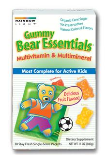 Gummy Bear Essentials Multivitamin & Mineral                              The most complete gummy multivitamin/mineral to nourish growing minds and bodies!.