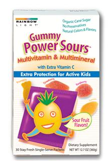 Gummy Power Sours Multivitamin & Multimineral                                                             The most complete gummy multivitamin/mineral plus extra vitamin C to support healthy immunity* .