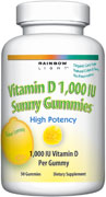 Vitamin D 1,000 IU Sunny Gummies                                            Optimal vitamin D protection in a delicious, 100% natural sour lemon gummy.