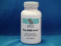 American Biologics has formulated Oxy-5000 Forte from a combination of select and science-based antioxidant enzymes, amino acids, vitamins, minerals, and metabolic cofactors..