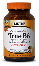 The only form of Vitamin B6 your cells can actually use! Essential for the metabolism of all amino acids (especially L-Tryptophan). Helps lower homocysteine levels and control PMS symptoms. Important for Candida (yeast) patients..