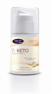 Each press of the pump provides approximately 15mg of natural 7-Keto DHEA. Formulated with Aloe Vera, Vitamin E and MSM, 7-Keto leaves skin feeling vibrant..