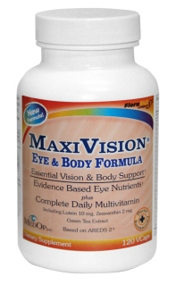 Patented Vision & Body Support. Evidence based Eye Nutrition plus Complete Daily Multivitamin..