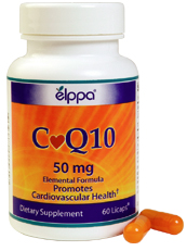 Each bottle contains 60 Vegetarian Capsules containing 50 mg of CoQ10..
