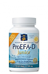 ProEFA-D Junior from Nordic Naturals has been specially formulated for children between the ages of 5-12 and is even beneficial for adolescents up to the age of young adulthood.