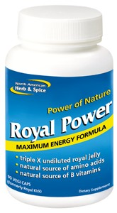 Triple strength undiluted real royal jelly and spice formula.