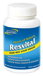 Raw mountain grown red sour grape rich in natural resveratrol.