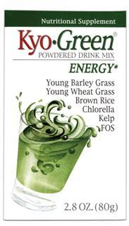Mix Kyo-Green in water or your favorite juice to make a refreshing and tasty drink. Go for the Green with Kyo-Green, America's favorite green drink mix!.