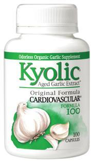 This formula supports your cardiovascular system by maintaining circulatory function and overall heart health. Kyolic Aged Garlic Extract begins with 100% organically grown garlic bulbs..