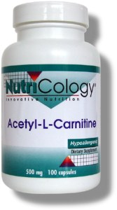 Acetyl-L-carnitine crosses the blood brain barrier more readily than L-carnitine, has antioxidant properties, and because it has an affinity for nerve cells, may especially provide antioxidant protection for neuronal integrity..