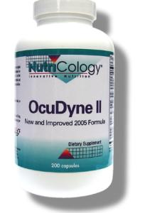 OcuDyne II New and Improved Formula adds natural vitamin E mixed tocopherols high in gamma-tocopherol and tocotrienols, vitamin D, alpha-lipoic acid and lycopene to the existing formula..