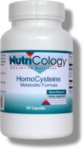 Homocysteine Metabolite Formula supports healthy homocysteine levels by providing the necessary nutrients to facilitate the breakdown of homocysteine into methionine and other metabolites..