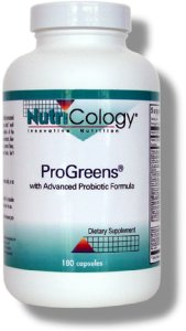 ProGreens contains adaptogenic herbs, active probiotics, fibers, and a variety of nutrient rich superfoods..