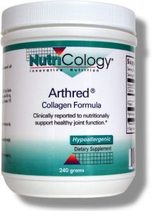 Arthred is hydrolyzed  powdered collagen to support the production of healthy joint tissue (connective tissue)..