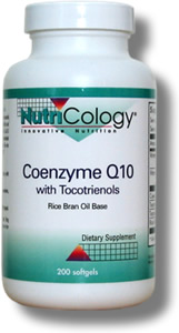 Coenzyme Q10 with Tocotrienols includes a substantial amount of mixed tocotrienols and 100 mg of CoQ10 per softgel, in a rice bran oil base (from brown rice)..