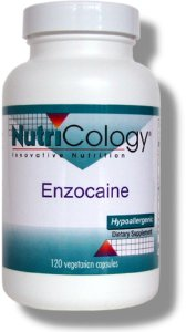 Enzocaine combines a synergistic blend of herbs, nutrients, and proteolytic enzymes which provide nutritional support for connective tissue and joint tissue..