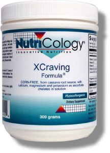 XCraving Formula contains Nutri-Cologys Buffered Vitamin C with additional nutrients that support insulin function and blood sugar regulation within normal levels, and the metabolism of calcium, helping to sustain an appropriate metabolic rate..