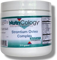 Strontium Osteo Complex offers complete and synergistic nutritional support for mineral absorption and skeletal health.* It includes calcium, magnesium, strontium, silica, vitamin D, vitamin K and other key nutrients, which together enhance bone mineralization, flexibility and integrity..