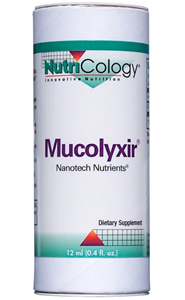 Mucolyxir Nanotech Nutrients is a DNA-based formulation, utilizing DNA from wild Pacific salmon, that supports respiratory health..