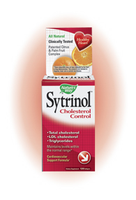 Sytrinol helps maintain healthy cholesterol levels by regulating the amounts of cholesterol produced by the liver..