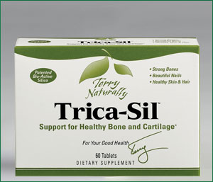 Organic Silica from Horsetail (Equisetum arvense) Extract, Trica-Sil promotes strong bones & cartilage, beautiful nails & healthy skin and hair..