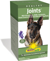 Glucosamine, chondroitin & MSM promote healthy hips and joints of your aging best friend.