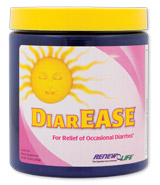 DiarEASE is a formula of natural ingredients traditionally used for the relief of occasional diarrhea, providing electrolytes and helping to ease intestinal discomfort. Two traditional remedies for occasional diarrhea are cooked rice and carob..