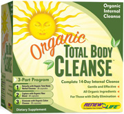 Organic Total Body Cleanse Part 1 uses organic whole herbs used traditionally to support the liver, lungs, lymphatic system, kidneys, skin and blood. These cleansing herbs support the natural detoxification process of the body..