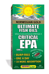 Leading the way in advanced Omega-3 supplementation, Norwegian Gold Ultimate Fish Oils combine concentrated EPA, DHA and other powerful Omega oils to promote optimum digestive function and enhance overall health..
