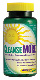 CleanseMORE is a natural laxative and overnight colon cleanse. The bowel cleansing formula is made with herbs and magnesium hydroxide to help relieve occasional constipation..