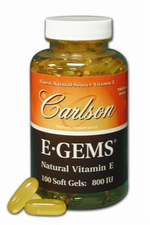 On each Carlson Vitamin E label you will find the words: Independently Assayed to Guarantee 100% Potency 100% Natural-Source Vitamin E..