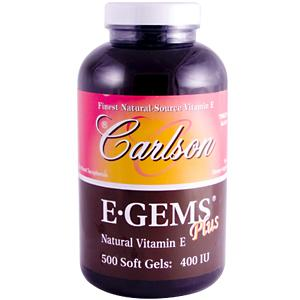 Physicians use and recommend Carlson Vitamin E
