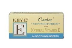 KeyE Suppositories are natural soothing inserts prepared with a base derived from coconut and palm oils..