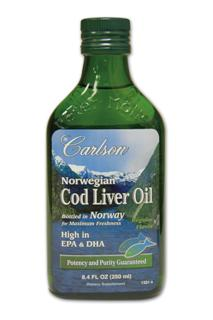 From the deep, unpolluted waters near Norway, Carlson brings you the finest cod liver oil which is naturally rich in Vitamin A, Vitamin D3, EPA and DHA. Only cod fish caught during the winter and early spring are used, as the liver oil content is highest at this time of year. The oil is separated from the liver tissues without the use of chemicals. To ensure freshness of Carlson Norwegian Cod Liver Oil, the air inside the glass bottle has been replaced with nitrogen. Natural vitamin E is added to the cod liver oil to protect the freshness of the EPA and DHA both within the bottle and our bodies. Vitamin E prevents oxidation of polyunsaturated oils.  THIS PRODUCT is regularly tested (using AOAC international protocols) for freshness, potency and purity by an independent, FDA-registered laboratory and has been determined to be fresh, fully potent and free of detrimental levels of mercury, cadmium, lead, PCB's and 28 other contaminants..